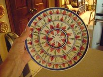 Handpainted Italian Plate -- With Built-In Hanger in Houston, Texas